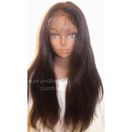 Front Lace wig chinese virgin hair Straight  20inch