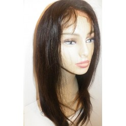 Front Lace wig European hair Natural Straight  16inch