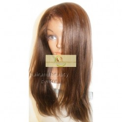Front Lace wig European hair Natural Straight  16inch  col 4