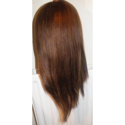 Full lace wig 100% indian hair Light Yaky 16inch colour 2  and 4