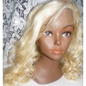 Synthetic hair lace front wig bodycurl 14inch blond