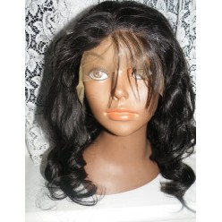 Synthetic hair lace front wig in Body curl colour 2 12inch