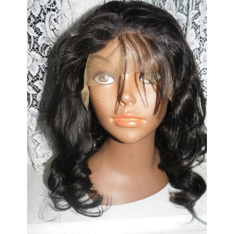 Synthetic hair lace front wig in Body curl colour 4 18inches