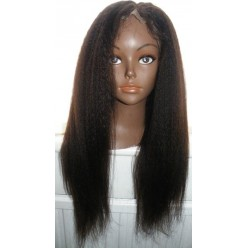 Lace Wig Kinky Straight made with chinese virgin hair 18inch  col 2