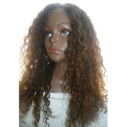 Glueless Lace Front Wig Brazilian Virgin Hair two tone 18inch