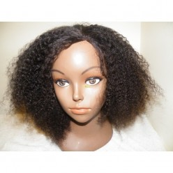 No Glue Lace Front Wig  Afro kinky 12inch 1b