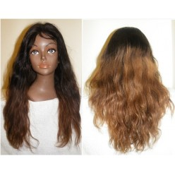 No Glue Full Lace Wig Brazilian Virgin Body wave  20inch  colour