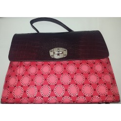 Sisieko African ankara pattern Bag Red