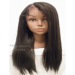 Synthetic hair lace front wig yaki straight colour 2 20inch