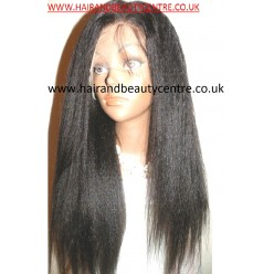 Lace Wig Kinky Straight made with chinese virgin hair 18inch  col 1B