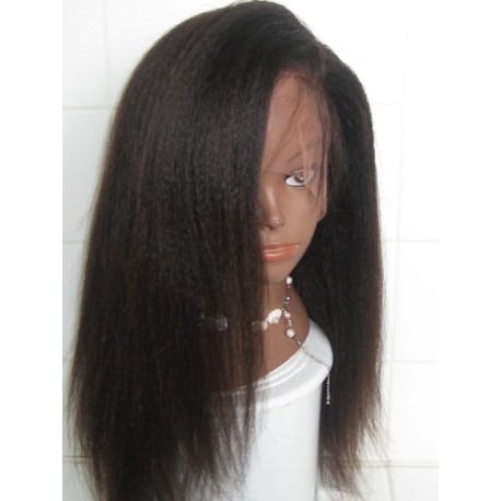 Lace Wig Kinky Straight made with chinese virgin hair 18inch