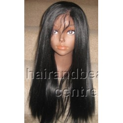Synthetic hair lace front wig yaki straight colour 1b 20inch