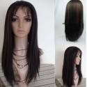 Lace Front Wig Natural Straight Indian Remy hair 16inch 1b/30