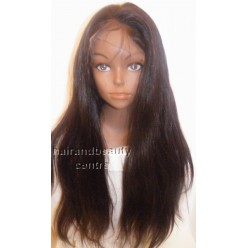 Front Lace wig Malaysian virgin hair Straight 18inch