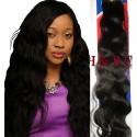 Malaysian Virgin hair 18inch natural BodyWavy 1B