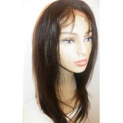 Lace wig European hair Natural Straight  18inch