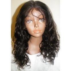 No Glue Full Lace Wig Brazilian Virgin loose curl 16inch