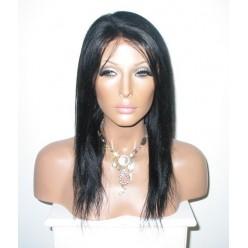No Glue Full Lace Wig 16inch 1b Yaki Straight