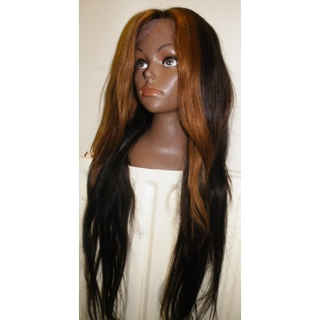 Front Lace wig Malaysian virgin hair Straight  24inch