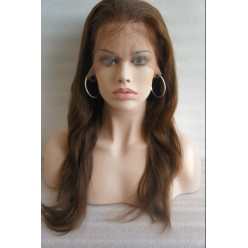 Front Lace wig European hair Natural Straight  16inch  col 3