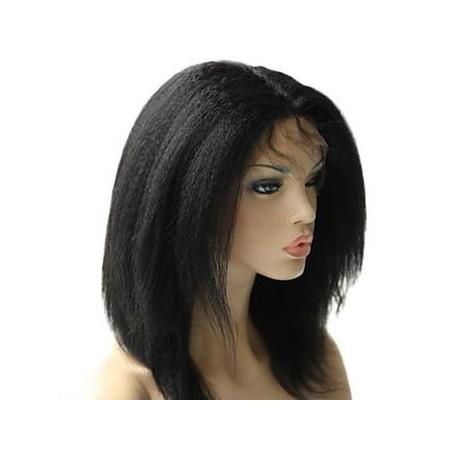 Full Lace Wig Italian Yaki Lace Wig 14inch  colour 1