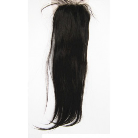 Top Closure Indian Remy Silky Straight  18inch colour 1b
