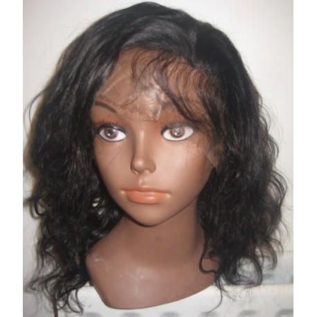 No glue Lace wig Indian Remy bodywave 14inch