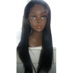 Lace Wig  Silk top cap 18inch yaki straight