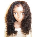 Lace Front Wig Indian Remy hair Deep Wave colour 1b 16inch