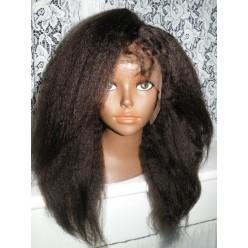Lace Front Wig Italian Yaki Human hair 16inch