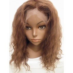 Indian Remy hair lace front  wig curly 14inch colour 4