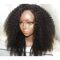 No Glue Lace front Wig Afro kinky curl 16inch