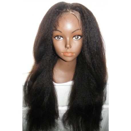 Italian Yaki Kinky Straight Full Lace Wig 24inch