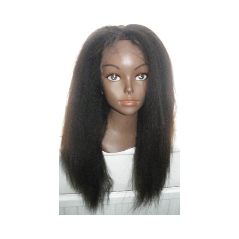 No Glue Lace Front Wig Italian Yaki Human Hair 16inch