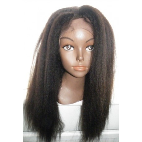 No Glue Lace Front Wig Italian Yaki Human hair 18inch