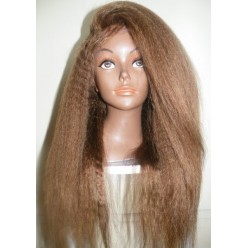 No glue Lacefront Kinky Straight 18inch colour 8/6 Ash Light Brown