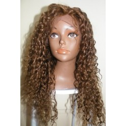 Glueless Lace Front Wig Brazilian Remy Hair 18inch Ash Light brown colour 8/6