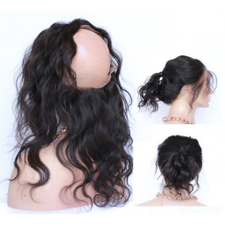 360 Circular Lace Frontal Natural straight 14inch