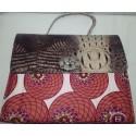Sisieko Croc Skin Ankara Bag