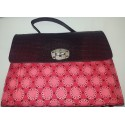 Sisieko African ankara pattern Bag Red
