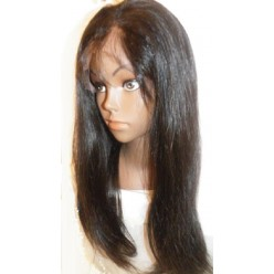 Lace wig Brazilian  Straight  18inch Natural 1b 150% density