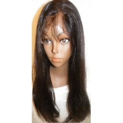 Lace wig Virgin Malaysian hair Natural Straight  18inch 1and 1b