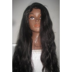 Glueless lace wig  silky straight 20inch colou 1b