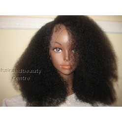 Full Lace Wig  Afro kinky 18inch 1B