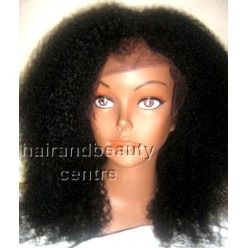 Lace Wig Natural afro kinky curl  12inches colour 1b