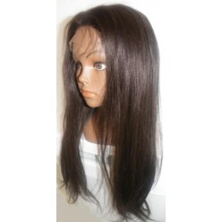 Lace Front Wig Yaki Straight Indian Remy hair 16inch 2