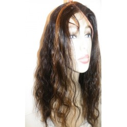 Lace Front Wig Indian Remy hair Bodywave 18inch 1b/30