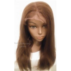 Lace Front Wig Yaki Straight Indian Remy hair 16inch 4