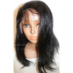 Lace Front Wig Natural Straight Indian Remy hair 14inch 1