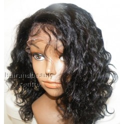 Lace Front Wig Indian Remy 10inch  DeepWave 1b